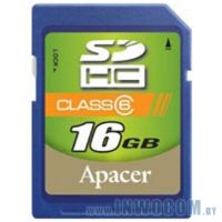 SD Card 16384mb Apacer Class 6 SDHC (Ret)