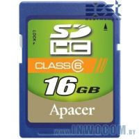 SD Card 16384mb Apacer Class 4 SDHC (Ret)