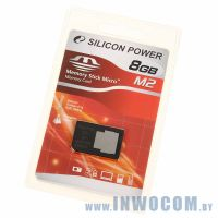 Memory Stick Micro M2 Silicon Power 8Gb + адаптер Pro Duo (Ret)
