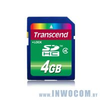 SDHC Card 4Gb Transcend Class 4 (TS4GSDHC4)
