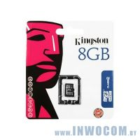 SDHC-micro Card 8Gb Kingston Class 4 SDC4/8GBSP