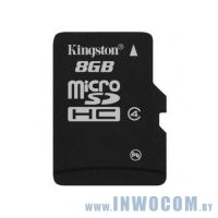 SDHC-micro Card 8Gb Kingston Class 4 +adapter