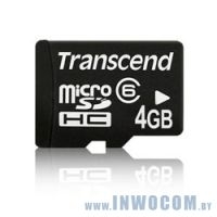 SD-micro Card 4Gb Transcend Class 6 TS4GUSDC6-P3