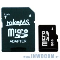 SDHC-micro Card 8Gb Take-MS MS8192TFL-HC6R