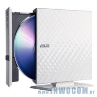 ASUS SDRW-08D2S-U White, USB, лоток, Slim, RTL