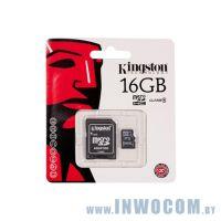 SDHC-micro Card 16Gb Kingston Class 4 SDC4/16GB