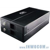 Внеш.корпус д/SATA 2x3,5 Agestar 3U2B3A черный USB3.0