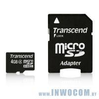 SDHC-micro Card 4Gb Transcend Class 4 TS4GUSDHC4