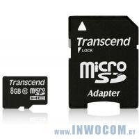 SDHC-micro Card 8Gb Transcend Class 10 TS8GUSDHC10