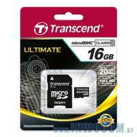 SDHC-micro Card 16Gb Transcend Class 10 (TS16GUSDHC10)