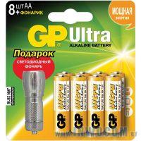 GP 15AU/FT-CR8 Ultra AA 8шт + фонарик