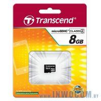 SD-micro Card 8Gb Transcend Class 4 TS8GUSDC4