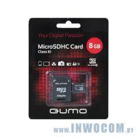 SDHC-micro Card 8Gb QUMO QM8GMICSDHC10