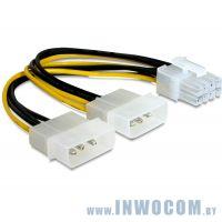 Переходник питания  для VGA, 2x Molex to 8-pin