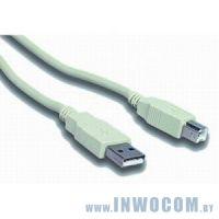 Кабель соединительный USB 2.0 A-B Gembird 3m (CCP-USB2-AMBM-10)