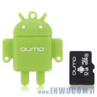 SDHC-micro Card 32Gb QUMO QM32GCR-MSD10-FD-GRN