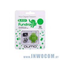 SDHC-micro Card 8Gb QUMO QM8GCR-MSD10-FD-GRN