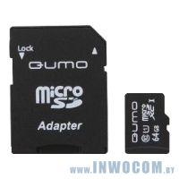 SDXC Card 64Gb QUMO Class 10 QM64GMICSDXC10U1
