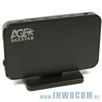 Внеш.корпус д/SATA 3,5 Agestar 3UB3A8-6G черный USB3.0