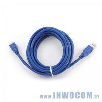 Кабель соединительный USB 3.0 PRO A-microB 3.0m Gembird (CCP-mUSB3-AMBM-10) Black