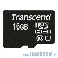 SDHC-micro Card 16Gb Transcend Class 10 (TS16GUSDU1)