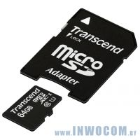 SDHC-micro Card 64Gb Transcend Class 10 UHS-I TS64GUSDU1 (Adapter SD) RTL