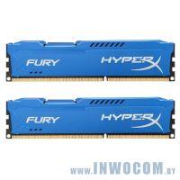 16Gb (2x8Gb) PC-15000 DDR3-1866 Kingston HyperX Fury Blue (HX318C10FK2/16) RTL