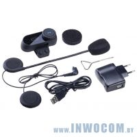 3Q Motocom (3Q-MBSA1001-FB) подходит для любого шлема RTL