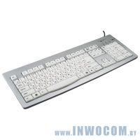 Уцен. Gembird KB-9848LU-R, USB, серебристая, подсветка
