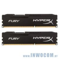16Gb (2x8Gb) PC-12800 DDR3-1600 Kingston HyperX Fury Black (HX316C10FBK2/16) RTL