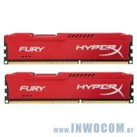 16Gb (2x8Gb) PC-12800 DDR3-1600 Kingston HyperX Fury Red (HX316C10FRK2/16) RTL