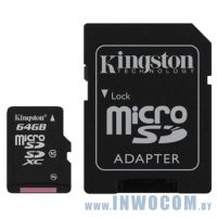 SD-micro Card 64Gb Kingston Class 10 SDCX10/64GB (SD Adapter)
