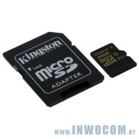 SD-micro Card 32Gb Kingston UHS-I Class 10 (SDCA10/32GB) (SD adapter) RTL