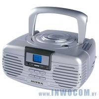 Аудиомагнитола Supra BB-CD101 Silver