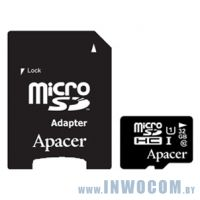 SDHC-micro Card 32Gb Apacer AP32GMCSH10U1-R with 1 Adaptor