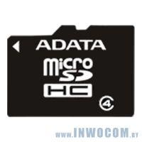 SDHC-micro Card 16Gb A-Data AUSDH16GCL4-RA1 Class 4 + adapter