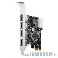 Orient VA-3U4PE (RTL) PCI-Ex1, USB3.0, 4 port-ext