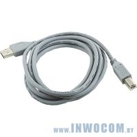 Кабель USB 2.0 Pro A-B 1,8m Gembird (CCP-USB2-AMBM-6G) экран, серый