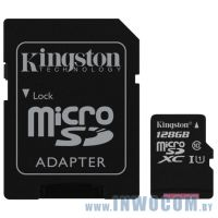 SDHC-micro Card 128Gb Kingston SDC10G2/128GB Class 10 UHS-I + переходник на SD