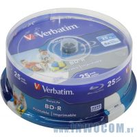 Verbatim BD-R 25Gb 6x, уп.25 шт  на шпинделе, printable (43811)
