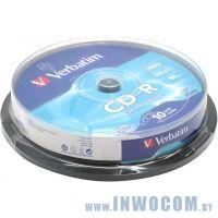 CD-R 700 Mb Verbatim 52x sp., уп.10 шт на шпинделе (43437)