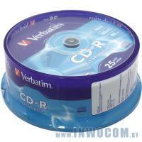 CD-R 700 Mb Verbatim 52x sp., уп.25 шт на шпинделе (43432)