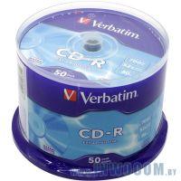 CD-R 700 Mb Verbatim 52x sp., уп.50 шт на шпинделе (43351)
