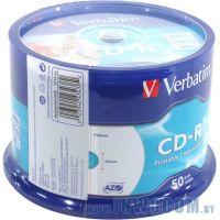 CD-R 700 Mb Verbatim 52x sp., уп.50 шт на шпинделе, printable (43309/43438)