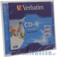 CD-R 700 Mb Verbatim 52x sp., printable (43324/43325/43424)