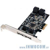 Уцен. STLab A-520 (RTL) PCI-Ex2, SATA 6Gb / s, 2port-ext, 4port-int, RAID, Hyper Duo, Port Multiplie