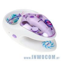 Маникюрно-педикюрный набор Scarlett SC-MS95002 насадок в компл.:11шт белый/фиолетовый
