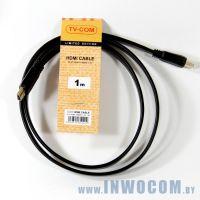 HDMI-HDMI TV-COM 1m ver1.4, (CG200F-1M), плоский, Black