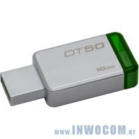 16Gb Kingston DataTraveler 50 DT50/16GB Metal/Green USB3.0