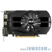Asus GTX1050Ti (PH-GTX1050TI-4G) 4Gb DDR5 (128bit, Fan, 1290(1392)/7008MHz) DVI+HDMI+DP RTL